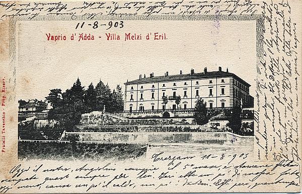villa melzi 1903