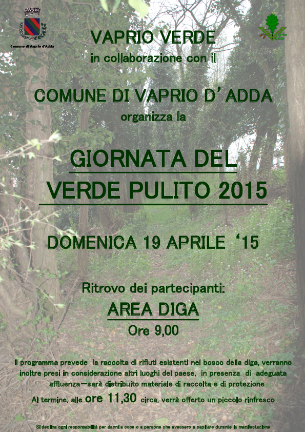 Giornata del verde pulito 2015 - volantino