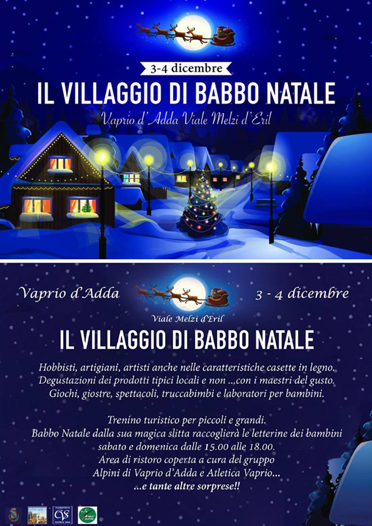 Immagini Del Villaggio Di Babbo Natale.Il Villaggio Di Babbo Natale La Pro Loco Vaprio