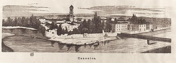 ponte antico vista su Canonica