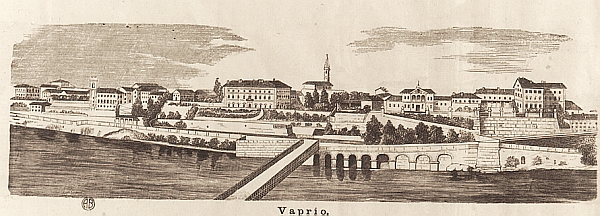 ponte antico vista su Vaprio