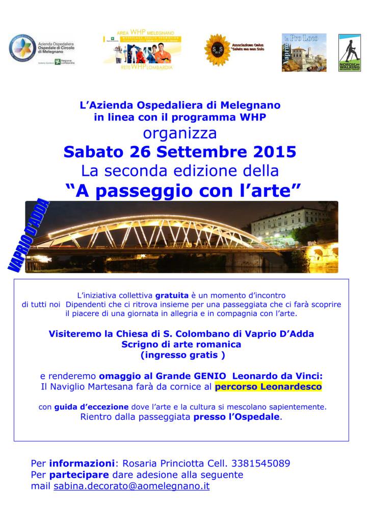 Volantino a passeggio con l'arte VAPRIO seconda edizione(1)