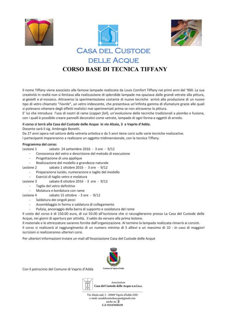 CORSO BASE DI TECNICA TIFFANY